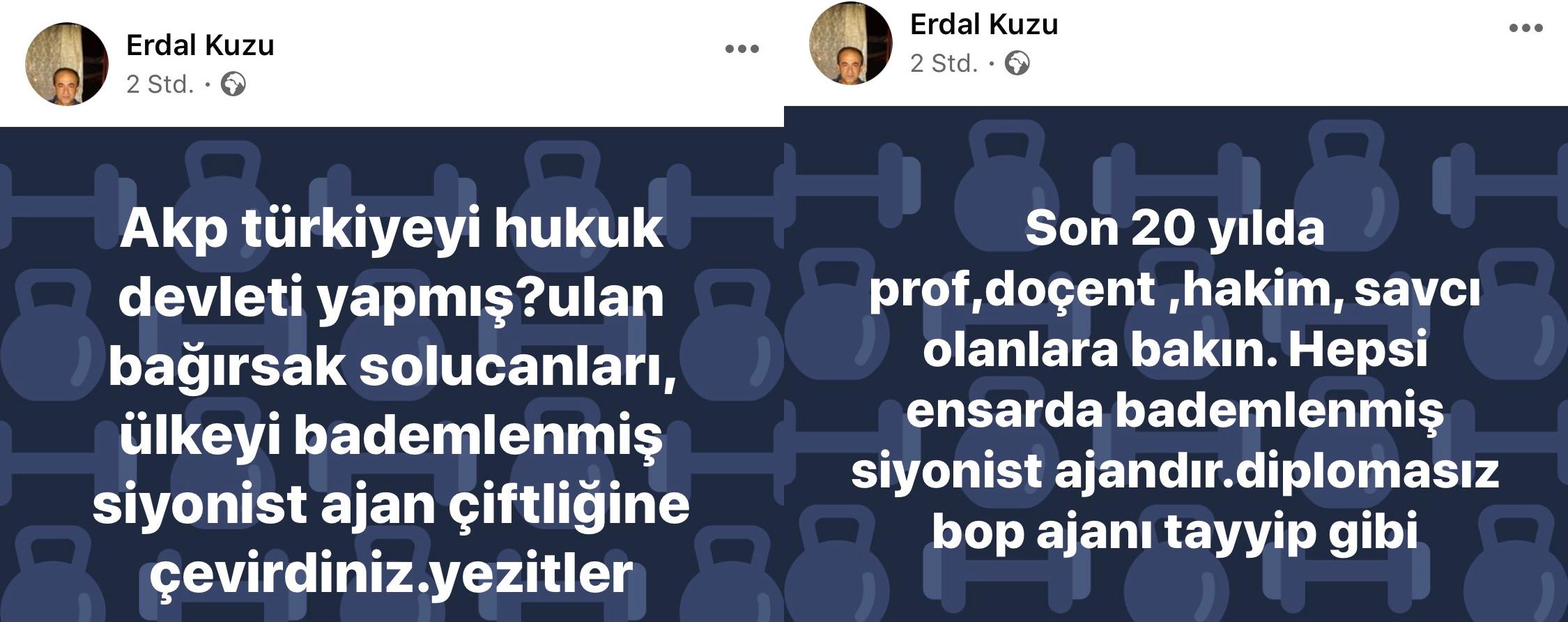 Kuzu's weitere Posts über eine angebliche jüdische Verschwörung in der Türkei