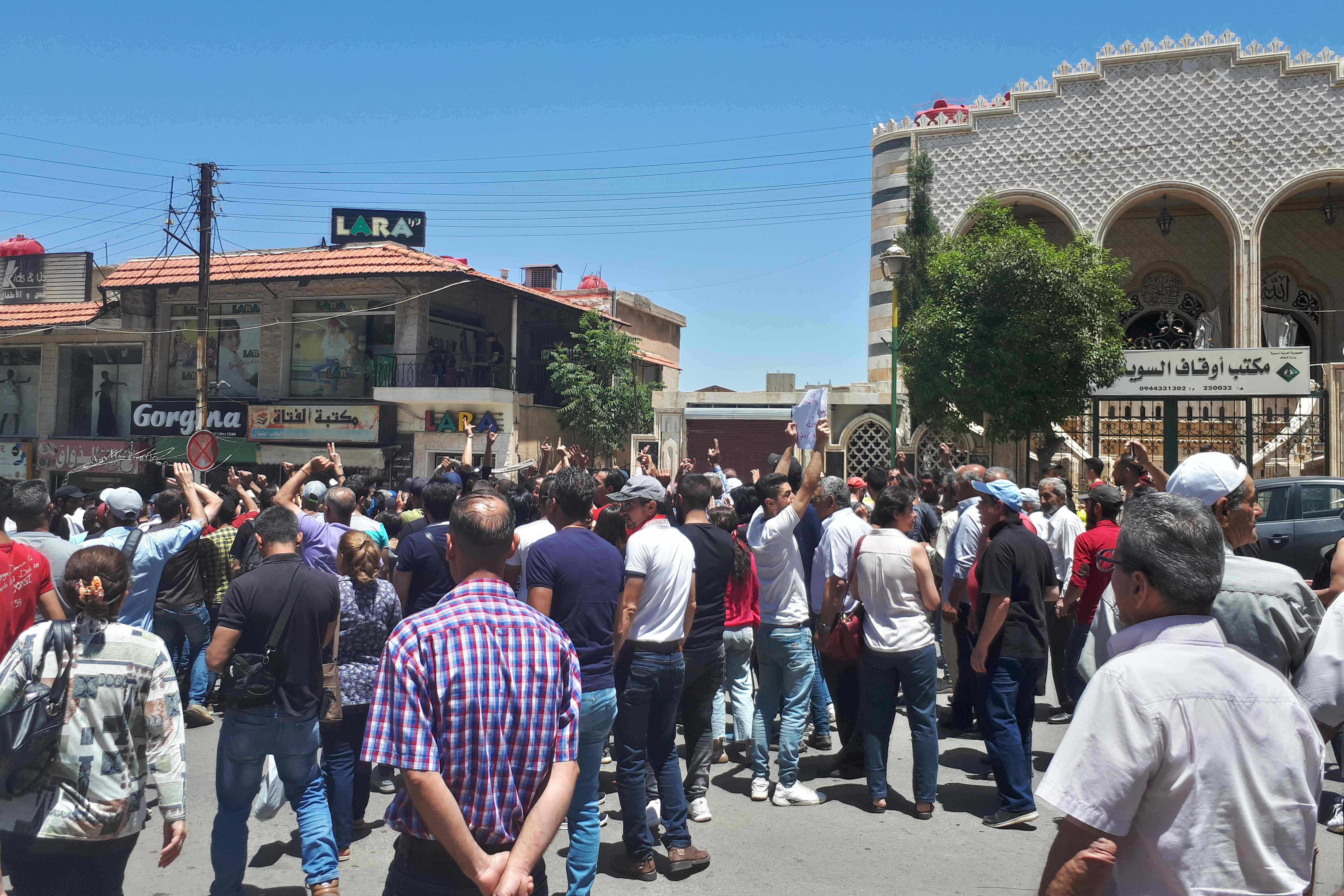 Protest in al-Suwaida, Syrien, am 9. Juni 2020.