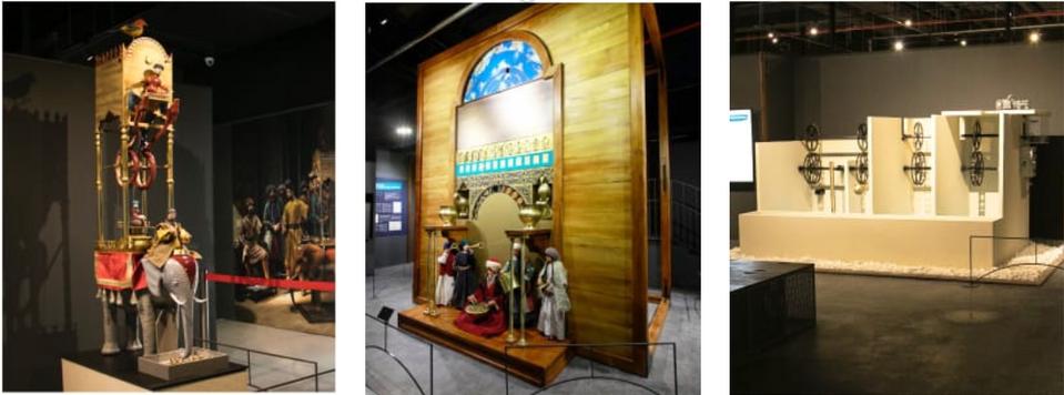 """Exponate aus der Ausstellung """"Al-Dschazaris außergewöhnliche Maschinen"""", in Istanbul, 2019."""