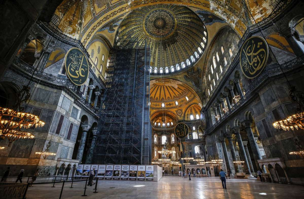 Die Innenansicht der Hagia Sophia