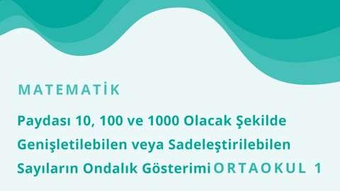 TRT EBA TV 13 Ocak